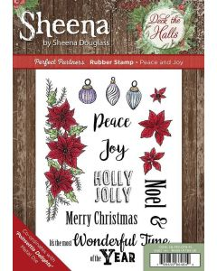 Sheena Douglass Perfect Partners Deck the Halls Rubber Stamp - Peace and Joy