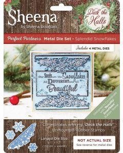 Sheena Douglass Perfect Partners Deck the Halls Metal Die - Splendid Snowflakes