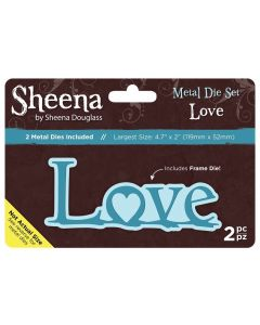 Sheena Douglass Metal Die Set - Love