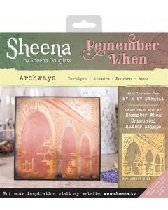Sheena Douglass Remember When Stencils - Archways