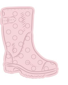 Crafter's Companion Nature's Garden Spring is in the Air Stamp and Die - Wellington Boot