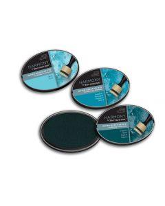 Harmony by Spectrum Noir Water Reactive 3PC Dye Inkpads - Aqua Blues