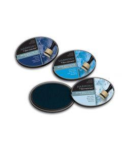 Harmony by Spectrum Noir Water Reactive 3PC Dye Inkpads - Dreamy Blues