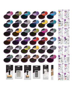 Spectrum Noir Quick Drying Inkpads and Gemini Layering Dies and Stamps Collection