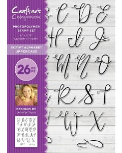 Crafter's Companion Photopolymer Stamp - Script Alphabet Uppercase