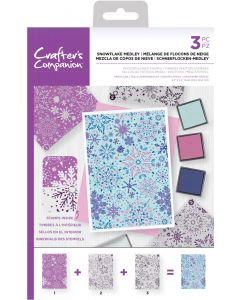 Crafter's Companion Background Layering Stamps - Snowflake Medley