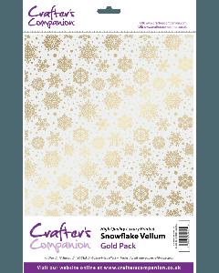Crafter's Companion Snowflake Vellum - Gold