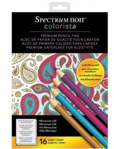 Spectrum Noir Colorista A4 Pencil Pad - Moroccan Life