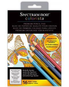 Spectrum Noir Colorista 5x7 Pencil Pad - Butterfly Garden