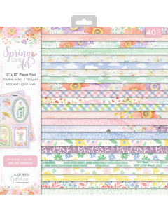 Crafter's Companion Nature's Garden Spring is in the Air - 12x12 Paper Pad