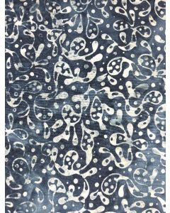 Sew Simple Batik Stamp Fabric - Indigo Splash