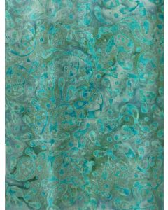 Sew Simple Batik Stamp Fabric - Turquoise Splash