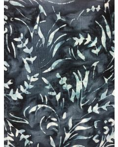 Sew Simple Batik Stamp Fabric - Indigo Leaf