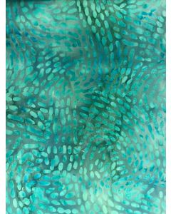 Sew Simple Batik Stamp Fabric - Turquoise Mosaic