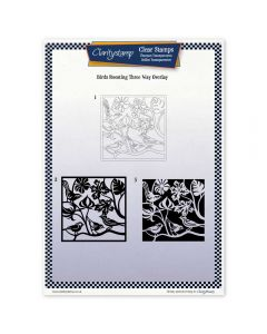 Claritystamp Three Way Overlay A4 Stamp Set - Birds Roosting