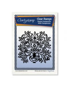 Claritystamp Stamp - Peacock Floral Urn