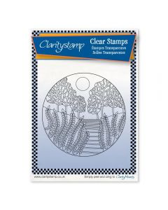 Claritystamp Carmel Round - Fine Line Stamp Set + MASK