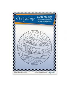 Claritystamp Rowers Round - Fine Line Stamp Set + MASK