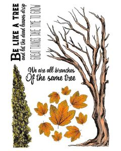 Sheena Douglass A5 Stamp - Bare Tree