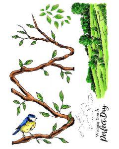 Sheena Douglass A5 Stamp - Bird Branch