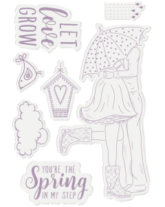 Crafter's Companion Nature's Garden Spring is in the Air Acrylic Stamp - Spring is in the Air