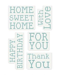 Sara Signature Sew Lovely Clear Acrylic Stamp - Cross Stitch Sentiments