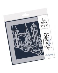"Claritystamp 7"" x 7"" Stencil -  The Charge of Lancelot"