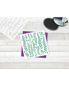 Sara Signature Enchanted Forest Stencil - Hanging Foliage