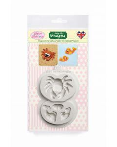 Katy Sue Designs Sugar Buttons - Crab and Fish