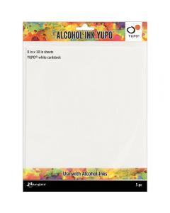 Ranger Tim Holtz Alcohol Ink White Yupo Paper - 86lb 5 Pack