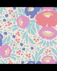 Tilda Plum Garden Fabric - Autumn Bouquet Teal
