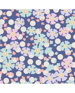 Tilda Plum Garden Fabric - Windflower Blueberry