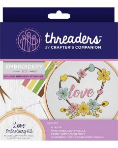 Threaders Embroidery Kit - Love