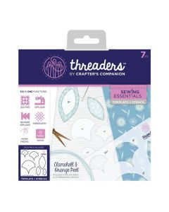 Threaders Sewing Essentials Template and Stencil - Clamshell and Orange Peel