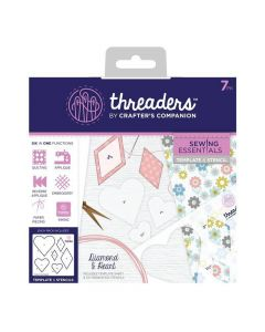 Threaders Sewing Essentials Template and Stencil - Diamond and Heart