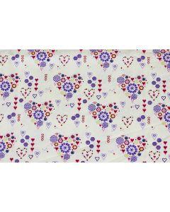 Threaders Loving Meadow Fabric - Heart Bouquet