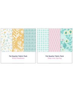 Threaders Fat Quarter Fabric Packs - Wild Meadows and Step into Spring