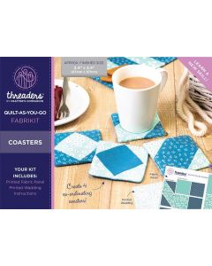 Threaders Quilt-As-You-Go Fabrikit - Coasters