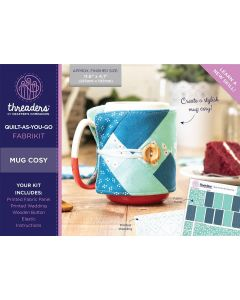 Threaders Quilt-As-You-Go Fabrikit - Mug Cosy