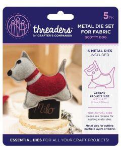 Threaders Animals Fabric Die - Scotty Dog