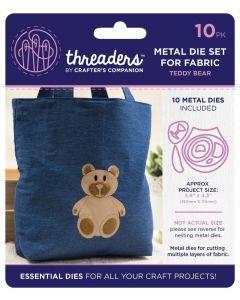 Threaders Animals Fabric Die - Teddy Bear