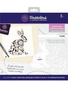 Threaders Woodland Stencil and Mask - Hare