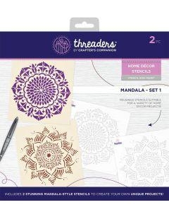 Threaders Home Décor Stencils - Mandala Set 1