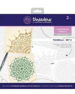 Threaders Home Décor Stencils - Mandala Set 2