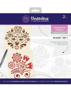 Threaders Home Décor Stencils - Scandi Set 1