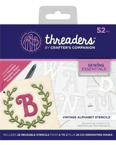 Threaders Monogram Maker Alphabet Templates - Vintage