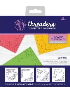 Threaders Quilting Stencils - Corners
