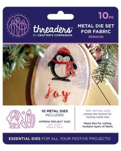 Threaders Snow Globes Fabric Die - Penguin