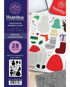 Threaders A5 Rubber Stamp Set - Festive Characters