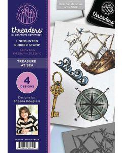 Threaders A5 Rubber Stamp Set - Treasure at Sea